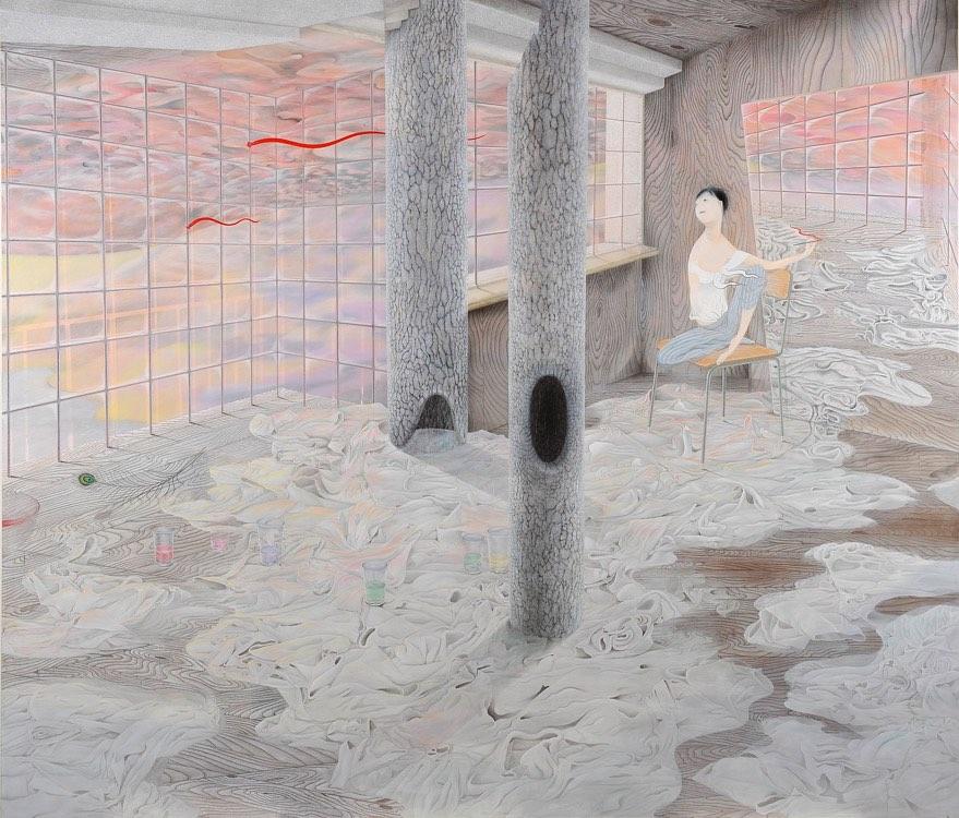 Tomoko Kashiki, Waiting to Go Towards the Red Light, 2014, Galerie Nathalie Obadia