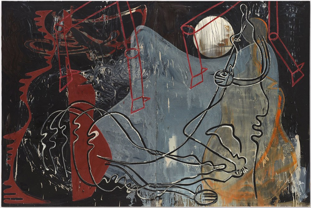 Oehlen_M, ohne Titel, 1986