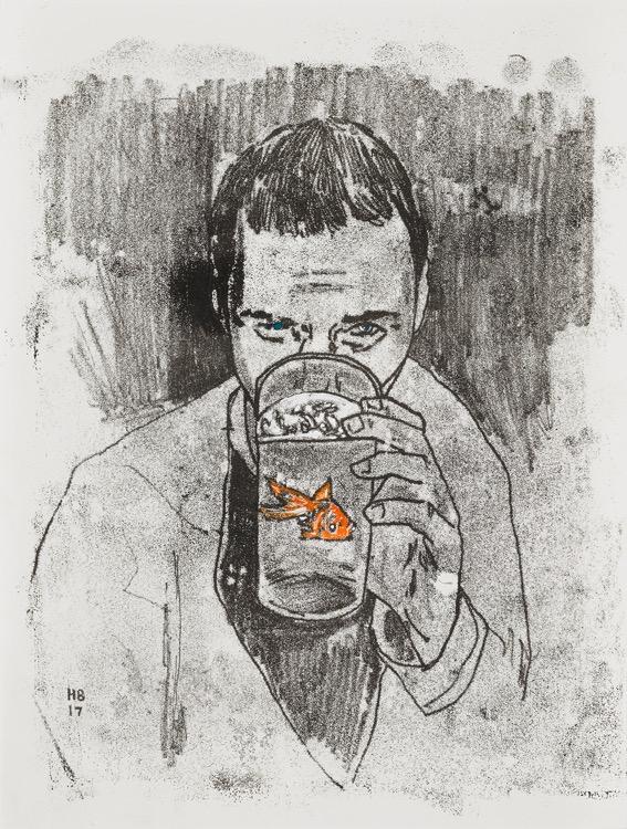 Hernan Bas, The Wyverns Drinking Club (Initiation Dinner), 2017 , Victoria Miro Gallery
