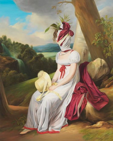 Ewa Juszkiewicz, Portrait of a lady (after Louis Leopold Boilly), 2019, Gagosian