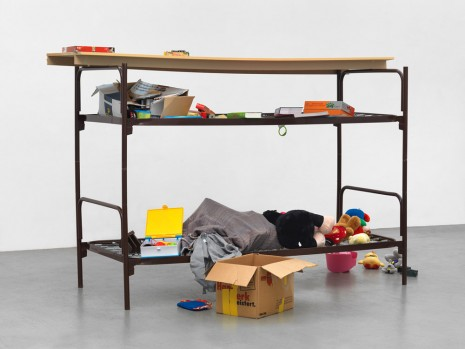 Thomas Rentmeister, Elbisbach double decker cot, 2018, Ellen de Bruijne PROJECTS