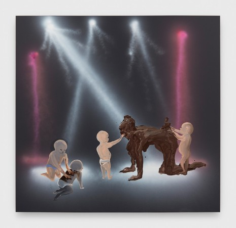 Tala Madani, Shit Mom (Disco Babies), 2019 , David Kordansky Gallery