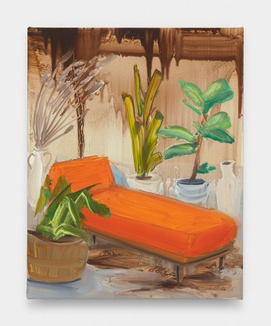 Tala Madani, Orange Chaise #2, 2019 , David Kordansky Gallery
