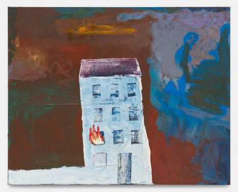 Walter Swennen, White House (with Fire), 2019 , Gladstone Gallery