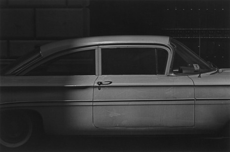 Roy DeCarava, White car and dots, 1961, David Zwirner