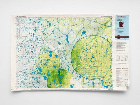 Oscar Tuazon, Water Map (Lake Itasca), 2019 , STANDARD (OSLO)