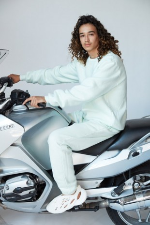 Roe Ethridge, Mehdi on a Motorcycle, 2019 , Andrew Kreps Gallery