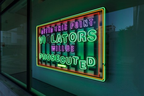 Tobias Rehberger, AFTER THIS POINT VIOLATORS (FREE NOT AFRAID), 2016, Pedro Cera