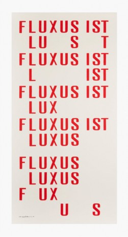 Emmett Williams, Fluxus ist, 1958-1988 , Cardi Gallery