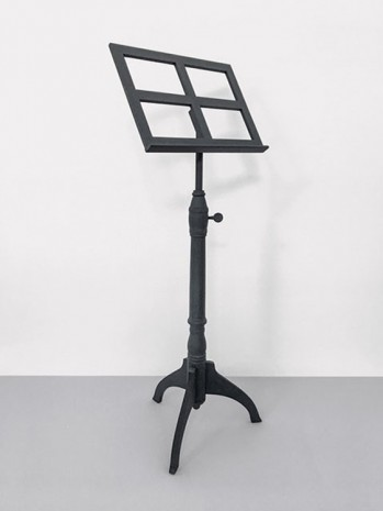 Joseph Kosuth, 'Quoted Use #5' Albert Einstein's Music Stand (ca.1915) Collection of the Historical Society of Princeton, USA, 2019 , Lia Rumma Gallery