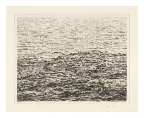 Vija Celmins, Ocean Surface (Between First and Second State), 1985 , Matthew Marks Gallery