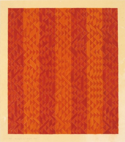 Anni Albers, Study in Red Stripes, 1969, David Zwirner
