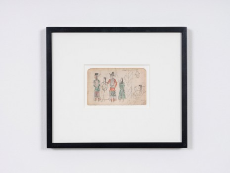 Ledger Drawing, Coffeen Ledger, Crow, ca. 1890-1910 , STANDARD (OSLO)