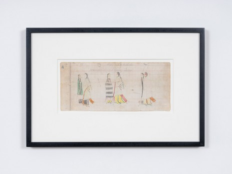 Ledger Drawing, Sheridan Ledger (page 29 and 30), ca. 1885 , STANDARD (OSLO)