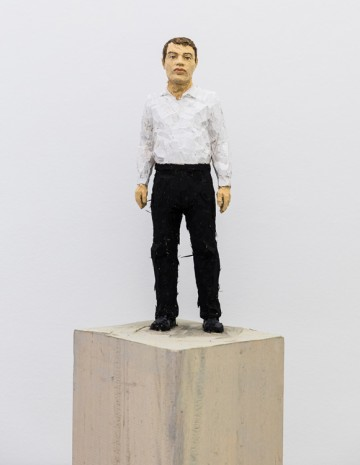 Stephan Balkenhol, Man with Black Trousers and White Shirt, 2019 , Mai 36 Galerie