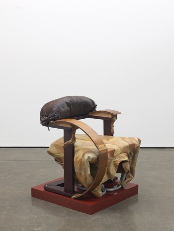 Jessi Reaves, Scrap jacket chair, 2019 , Herald St