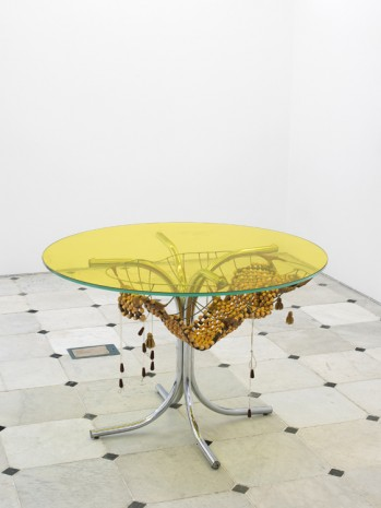 Jessi Reaves, Long times curse table, 2019 , Herald St