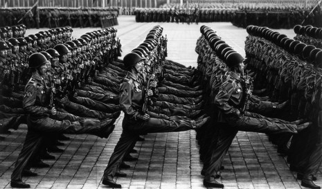 Robert Longo, Untitled (Marching Soldiers; (Party Foundation Day) Pyongyang, North Korea; October 10, 2018), 2019, Metro Pictures