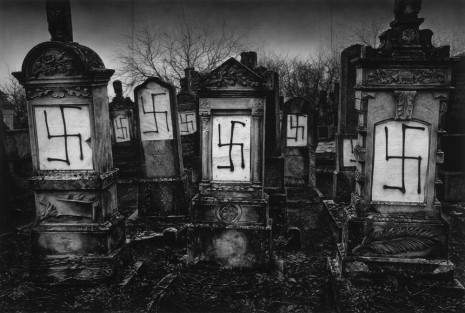 Robert Longo, Untitled (Defaced Jewish Cemetery; Strasbourg, France; December 14, 2018), 2019 , Metro Pictures