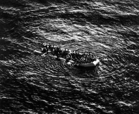 Robert Longo, Untitled (Refugees Moonbird Sighting, Mediterranean Sea; May 5, 2017), 2019 , Metro Pictures