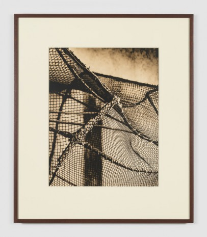 João Penalva, Scenic prop. Bird catcher's cage. Cloth-wrapped PVC structure with cotton and polyester thread net., , Simon Lee Gallery