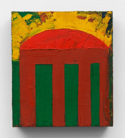 Chris Martin, Temple, 1985, Anton Kern Gallery