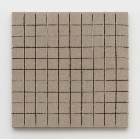 Analia Saban, Woven Grid as Warp and Weft, 10x10 (Black), 2019 , Praz-Delavallade