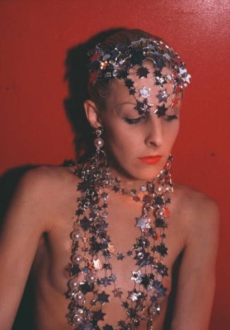 Nan Goldin, Greer modeling jewlery, NYC, 1985 , Marian Goodman Gallery