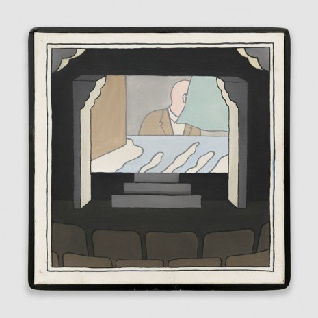 Roger Brown, Untitled (Theater, Half Hidden Face), 1968, Venus Over Manhattan