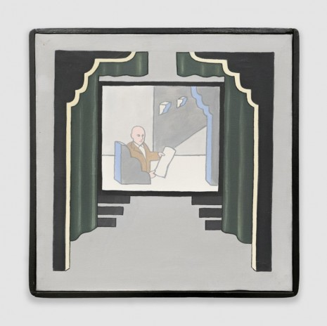 Roger Brown, Untitled (Theater, Man in Chair), 1968, Venus Over Manhattan