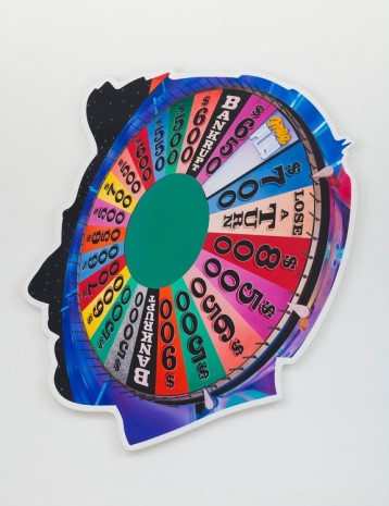 Alex Israel, Self-Portrait (Wheel of Fortune), 2017 , Gagosian