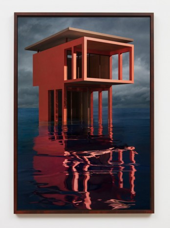James Casebere, Red/Orange Solo Pavilion, 2018, Sean Kelly