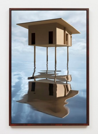 James Casebere, Tan House on Stilts, 2019, Sean Kelly