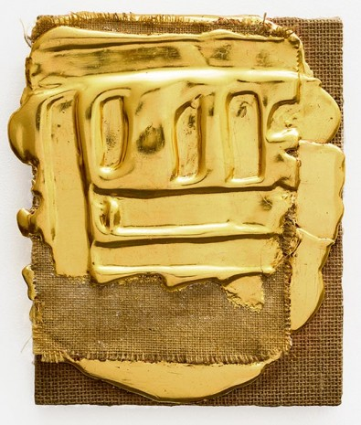 Nancy Lorenz, Red Gold on Burlap, 2015 , GAVLAK