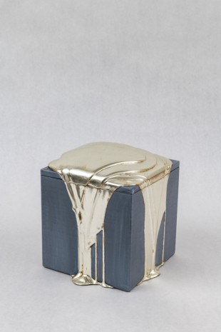 Nancy Lorenz, White Gold Pour Box, 2019 , GAVLAK