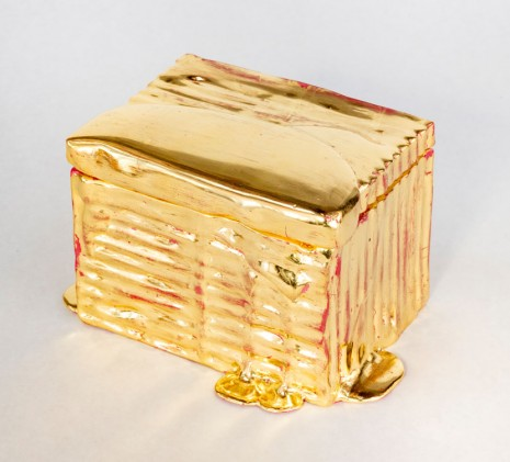 Nancy Lorenz, Gold Cardboard Box, 2019 , GAVLAK