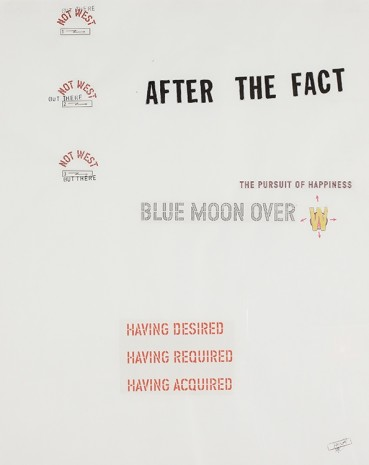 Lawrence Weiner, Blue Moon Over #19, 2001, Luhring Augustine