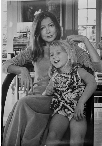 Julian Wasser, Joan Didion Dunne at home in Los Angeles with her late daughter Quintana Dunne, 1974, Wentrup