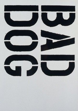 Christopher Wool, Untitled, 1992, Metro Pictures
