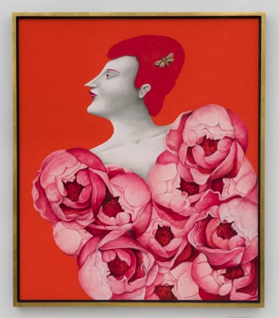 Nicolas Party, Portrait with Roses, 2019 , Hauser & Wirth