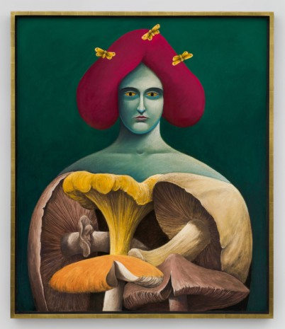 Nicolas Party, Portrait with Mushrooms, 2019 , Hauser & Wirth