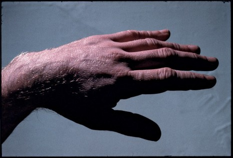 Peter Hujar, Paul Thek With Hand Sculptures, 1967 / printed 2011 by Gary Schneider , Galerie Buchholz
