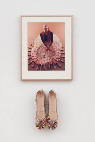 Rose English, Study for a Divertissement: Diana with crinoline and pointe shoes II, 1973, Richard Saltoun Gallery