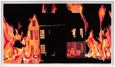 Francesca Gabbiani, Badlands (Dollhouse on fire), 2012 , Monica De Cardenas