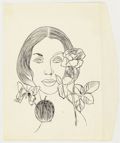 Andy Warhol, Female Hear, Rose, Fruit and Butterfly, ca. 1957 , Anton Kern Gallery