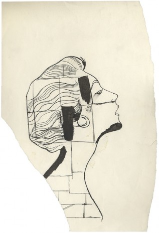 Andy Warhol, n.t. (Portrait of a Lady After Man Ray), 1956 , Anton Kern Gallery