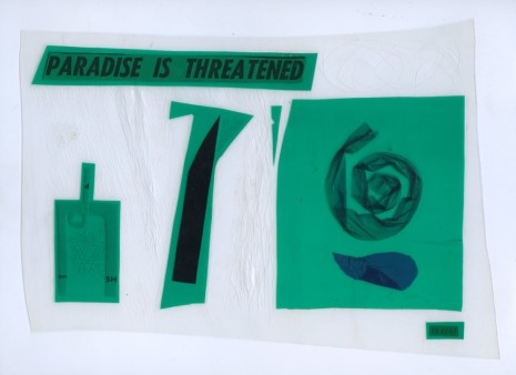 Dom Sylvester Houédard, PARADISE IS THREATENED, 1967, Lisson Gallery
