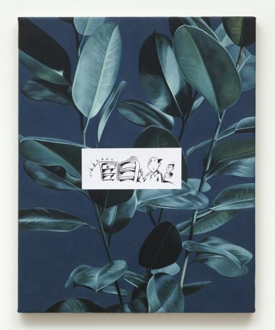 Oliver Osborne, Rubber plant (Empty Fridge), 2012, The Approach