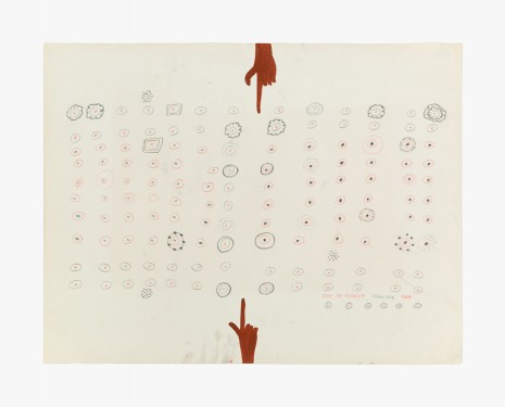 Roy De Forest, Drawing, 1964, Venus Over Manhattan