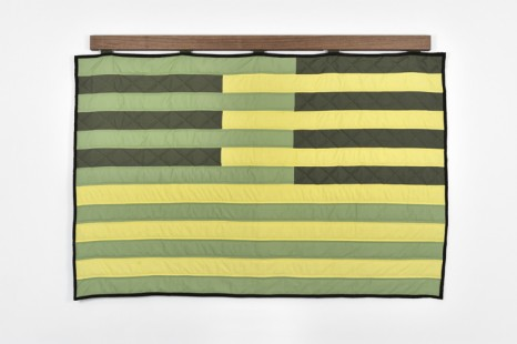 Amy Oneill, Deconstructing 13 Stripes and a Rectangle-Spring Quilt, 2011, Praz-Delavallade